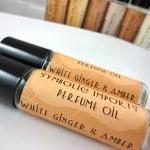 White Ginger and Amber Perfume Oil ..